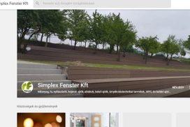 Simplex Fenster Kft Google+ oldala